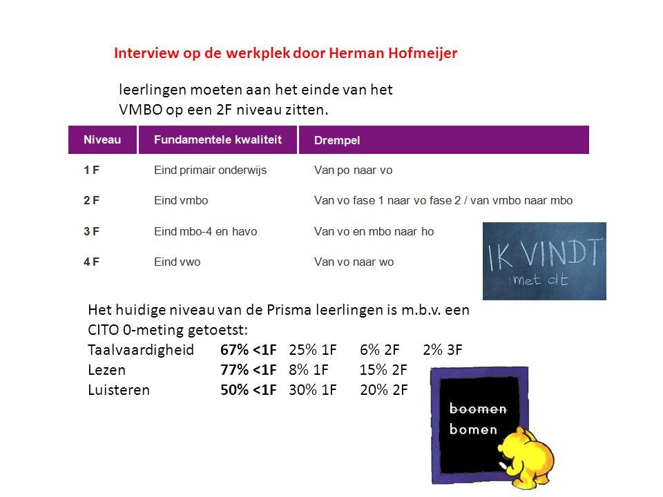 Interview op de werkplek door Herman Hofmeijer