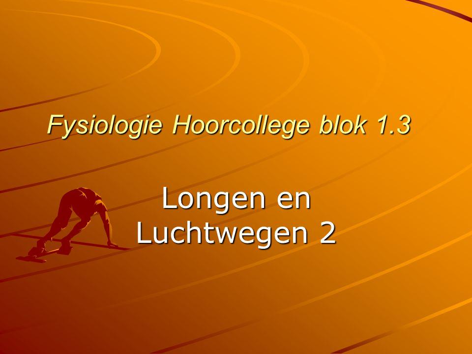 Fysiologie Hoorcollege blok 1.3