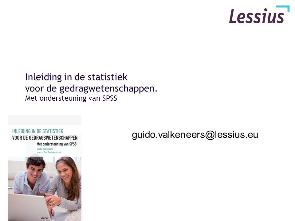 Inleiding in de statistiek voor de gedragwetenschappen