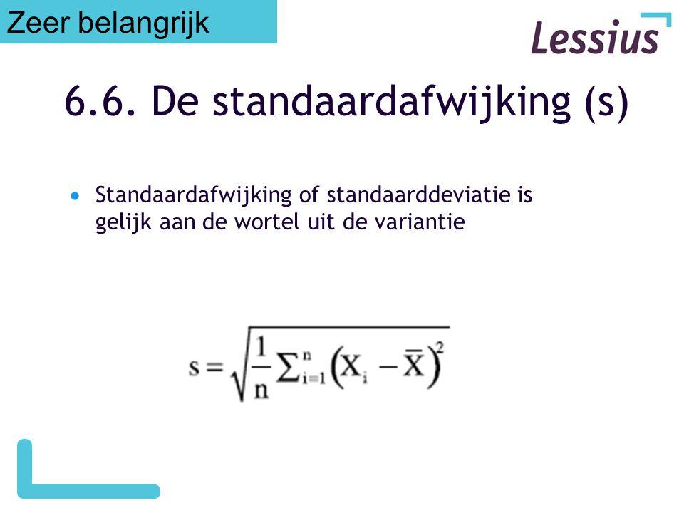 6.6. De standaardafwijking (s)