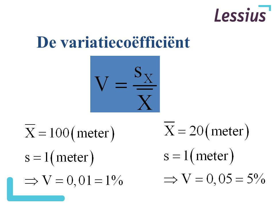 De variatiecoëfficiënt