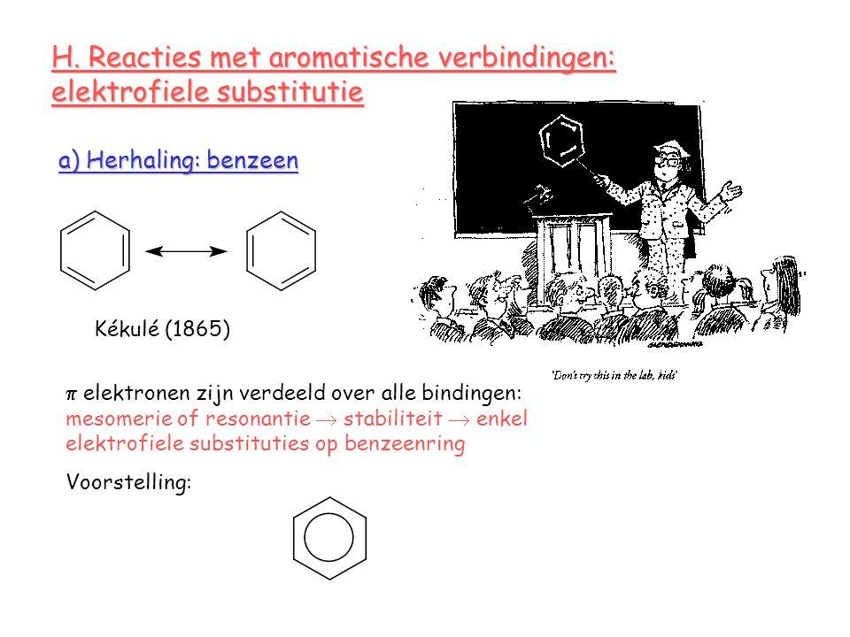 H. Reacties met aromatische verbindingen: elektrofiele substitutie