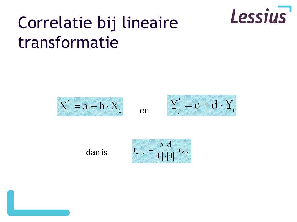 Correlatie bij lineaire transformatie