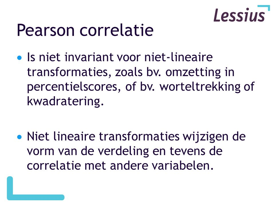 Pearson correlatie