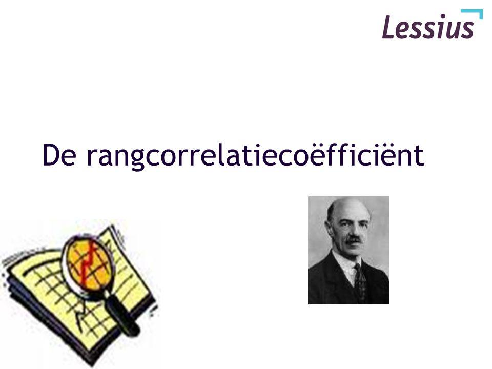 De rangcorrelatiecoëfficiënt