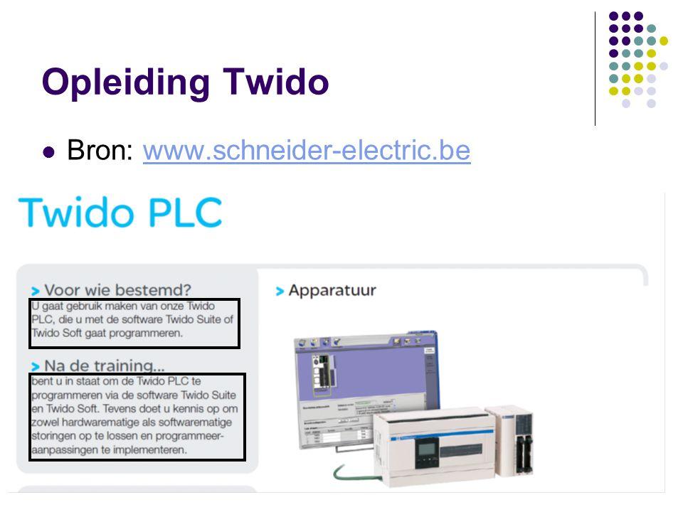 Opleiding Twido Bron: www.schneider-electric.be F. Rubben Twidosuite