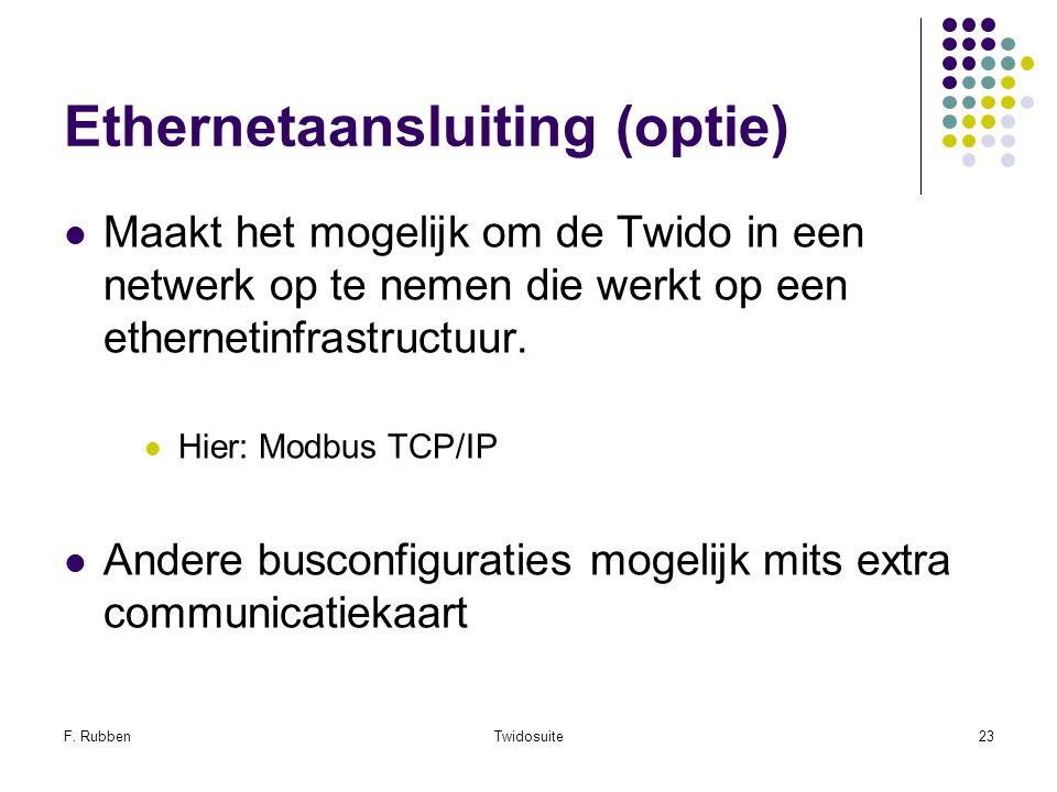 Ethernetaansluiting (optie)