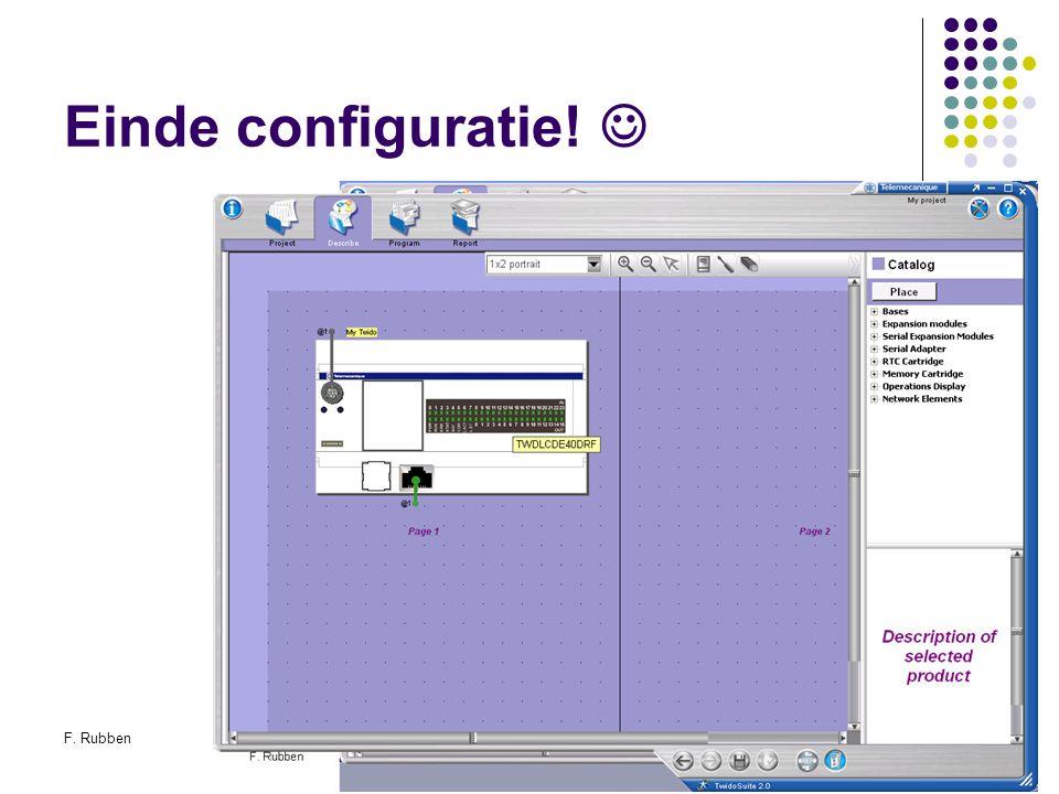 Einde configuratie!  F. Rubben Twidosuite