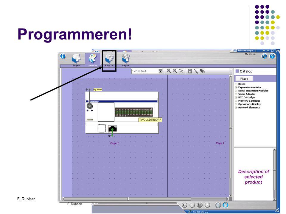 Programmeren! F. Rubben Twidosuite