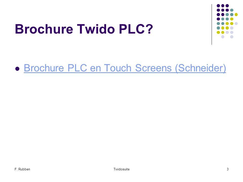 Brochure Twido PLC Brochure PLC en Touch Screens (Schneider)