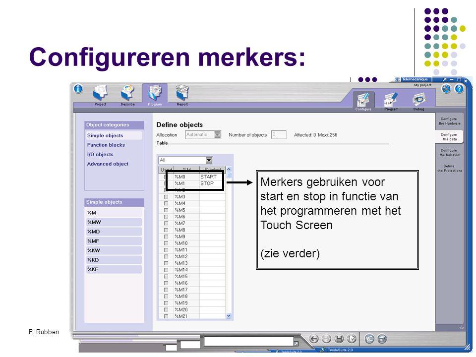Configureren merkers:
