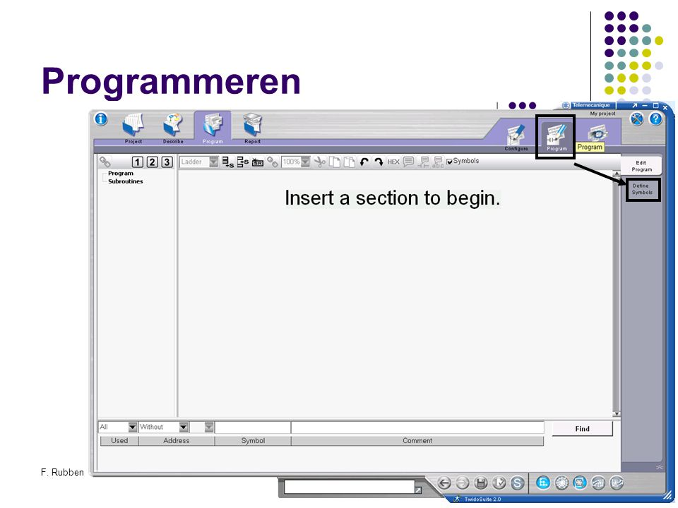 Programmeren F. Rubben Twidosuite