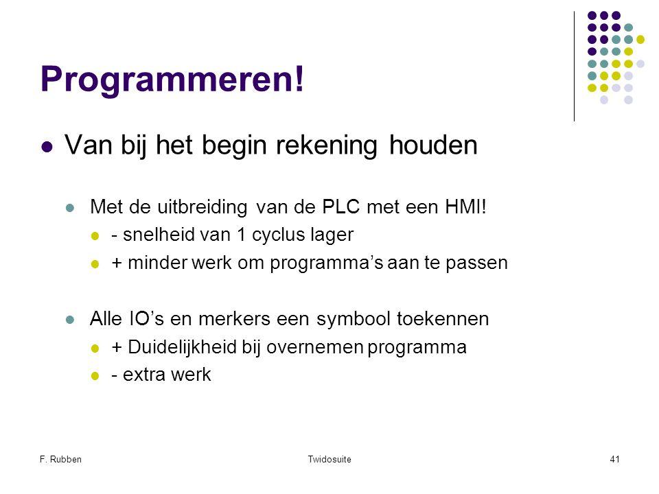Programmeren! Van bij het begin rekening houden