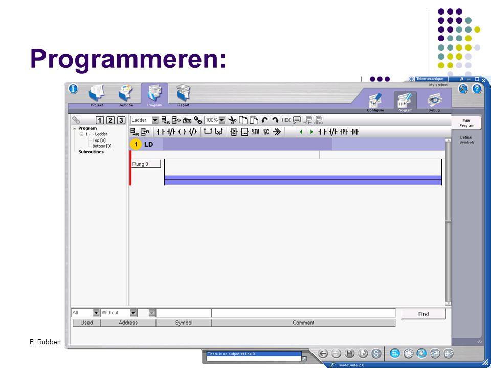 Programmeren: F. Rubben Twidosuite