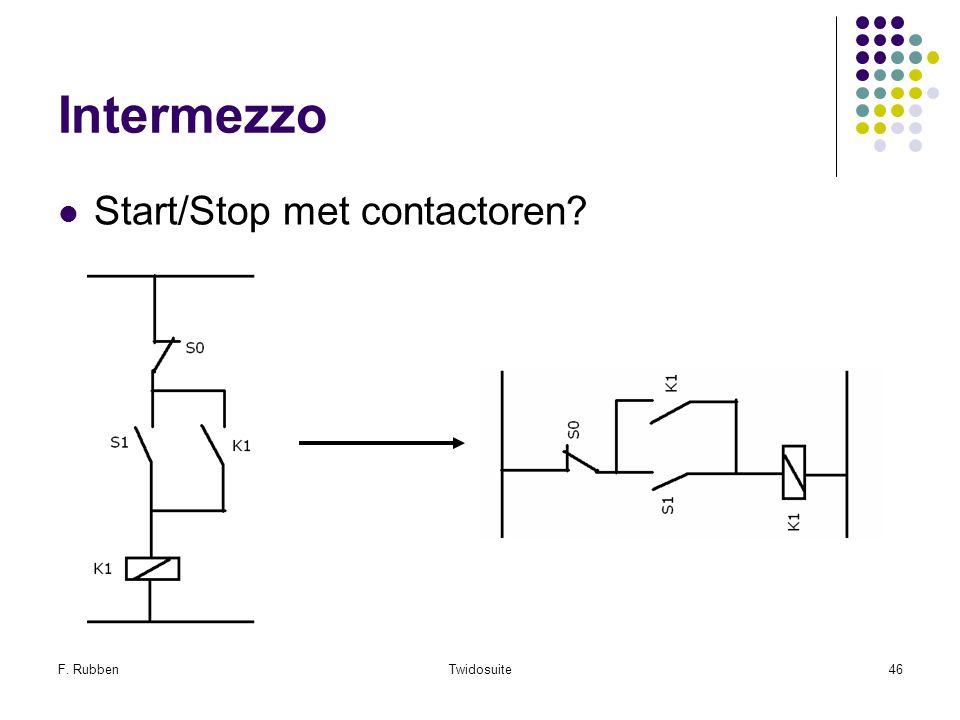 Intermezzo Start/Stop met contactoren F. Rubben Twidosuite