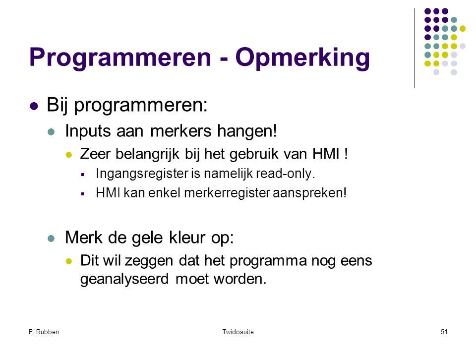 Programmeren - Opmerking