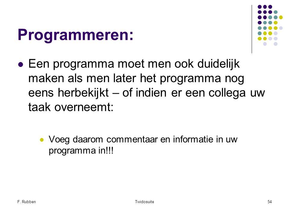 Programmeren: