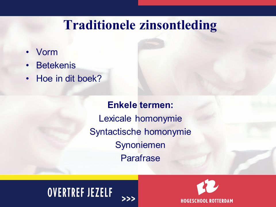 Traditionele zinsontleding