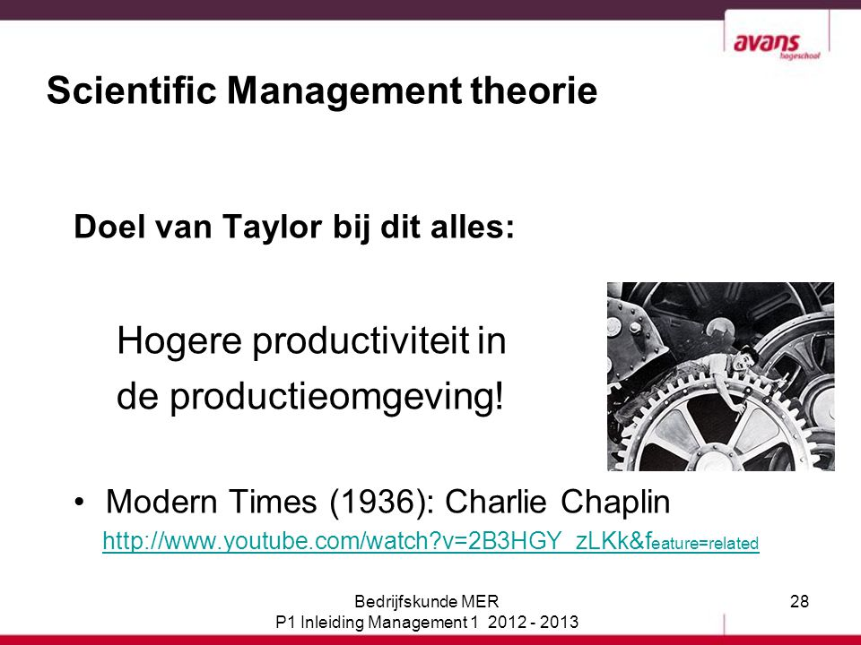 Scientific Management theorie