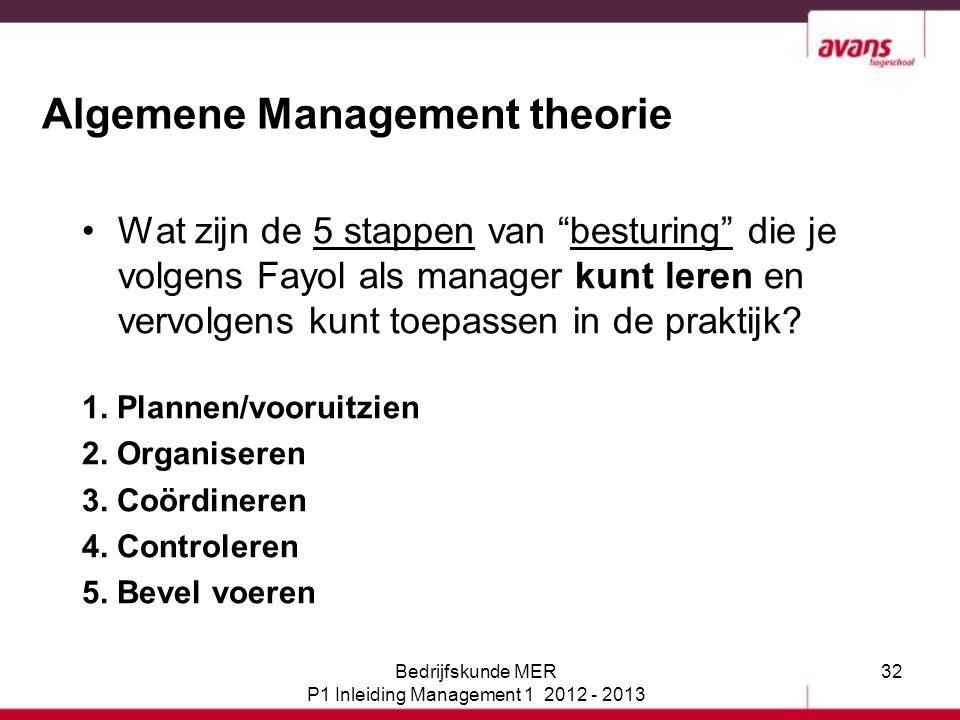 Algemene Management theorie