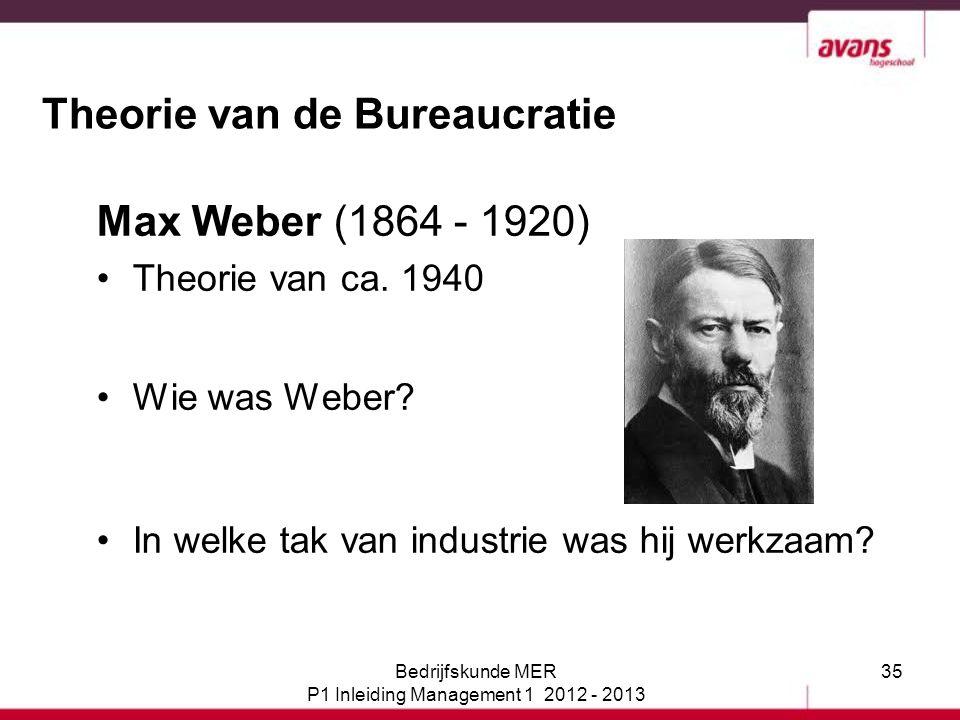Theorie van de Bureaucratie