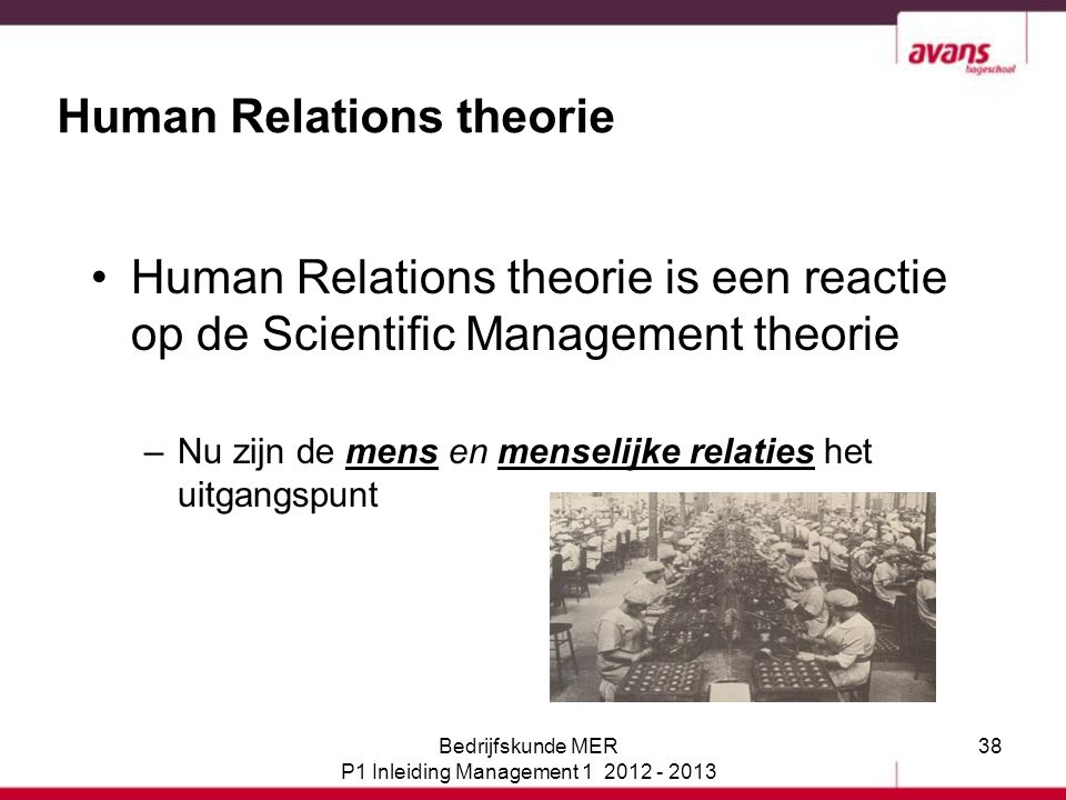 Human Relations theorie