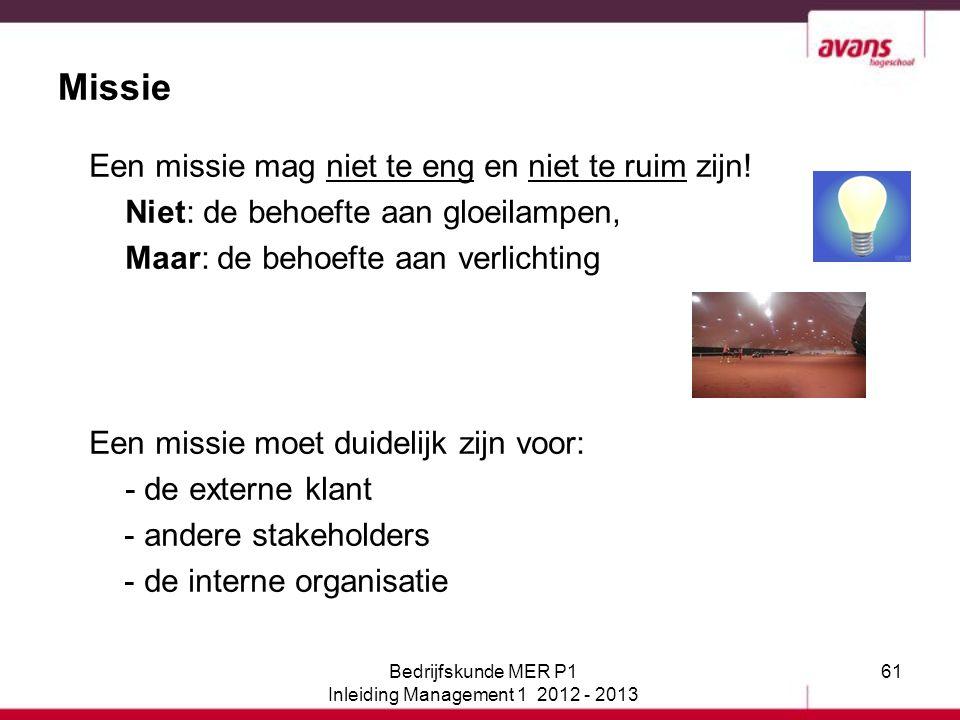 Inleiding Management 1 2012 - 2013
