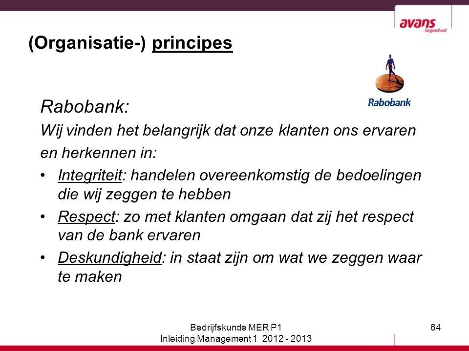 (Organisatie-) principes