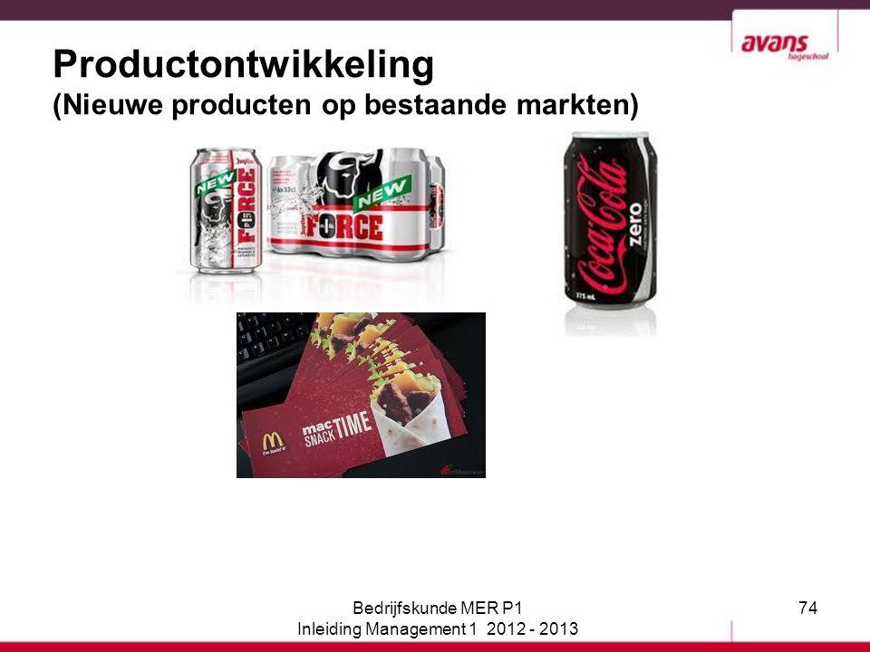 Productontwikkeling (Nieuwe producten op bestaande markten)