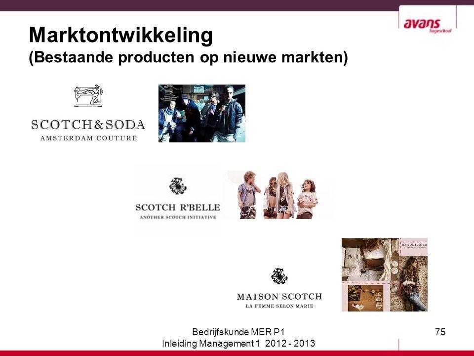 Marktontwikkeling (Bestaande producten op nieuwe markten)
