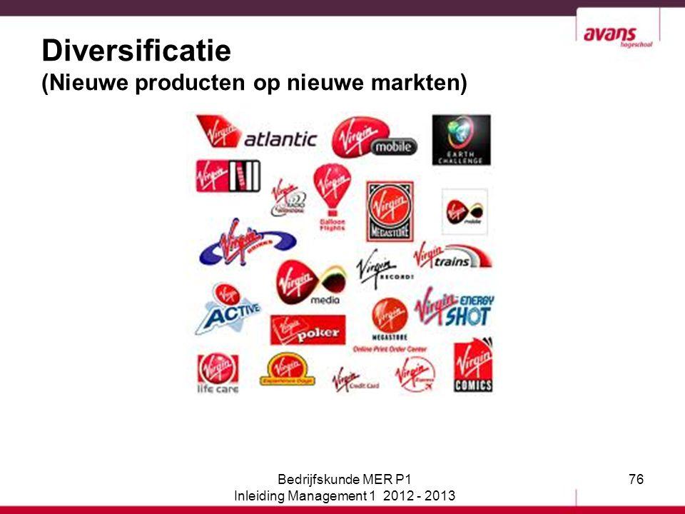 Diversificatie (Nieuwe producten op nieuwe markten)