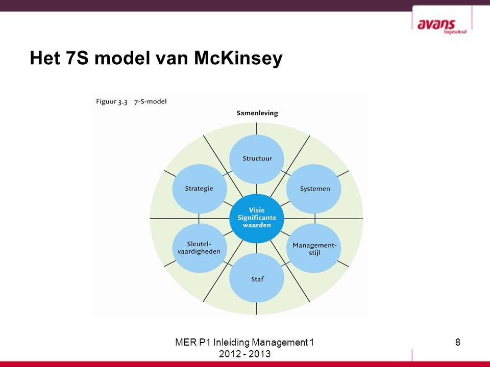 Het 7S model van McKinsey