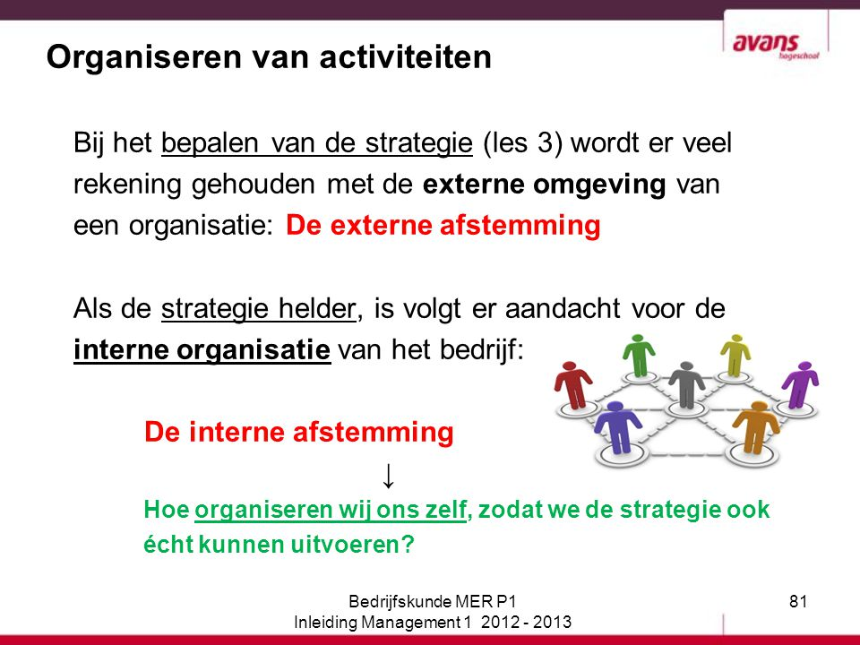 Organiseren van activiteiten