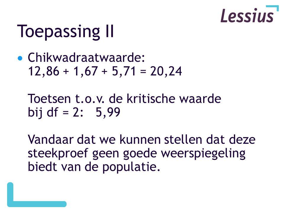 Toepassing II