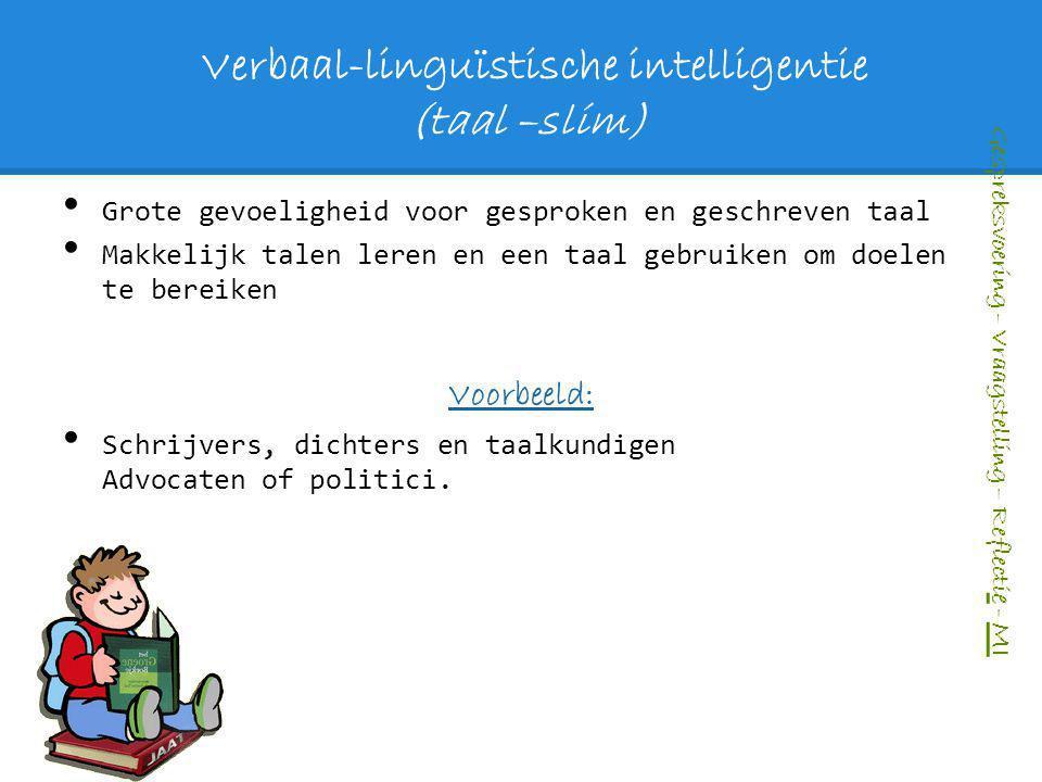 Verbaal-linguïstische intelligentie (taal –slim)