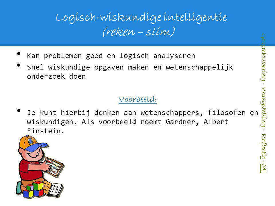 Logisch-wiskundige intelligentie (reken – slim)