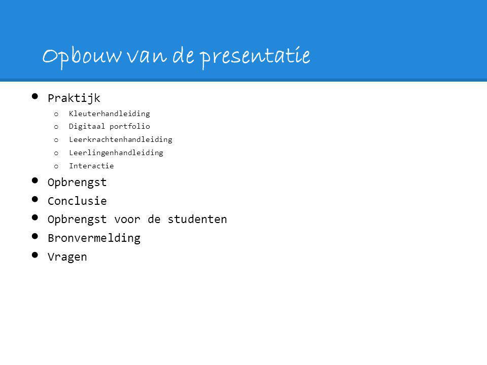 Opbouw van de presentatie