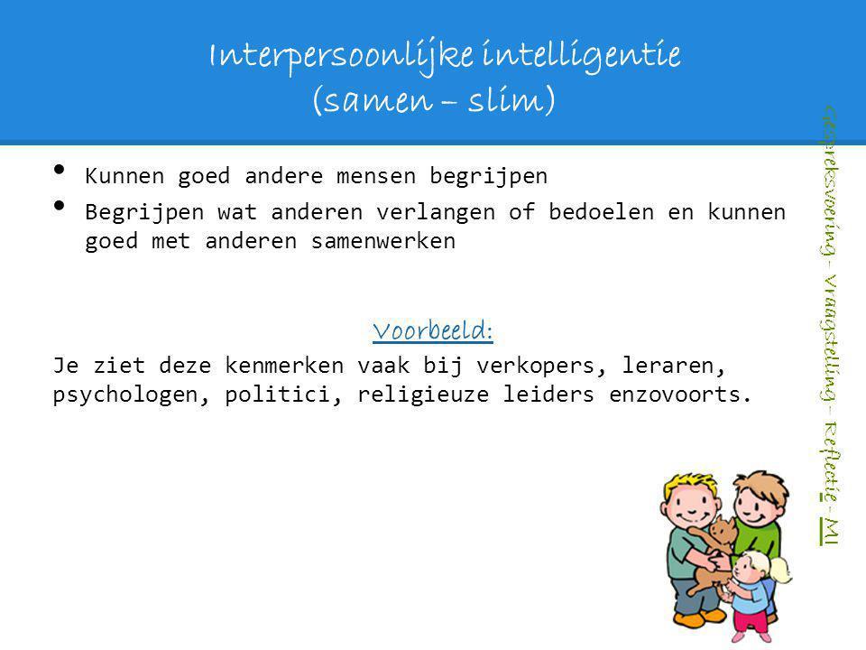 Interpersoonlijke intelligentie (samen – slim)