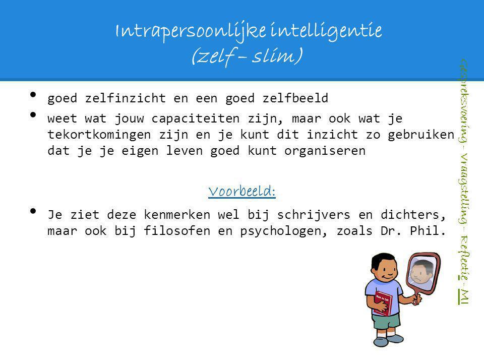 Intrapersoonlijke intelligentie (zelf – slim)