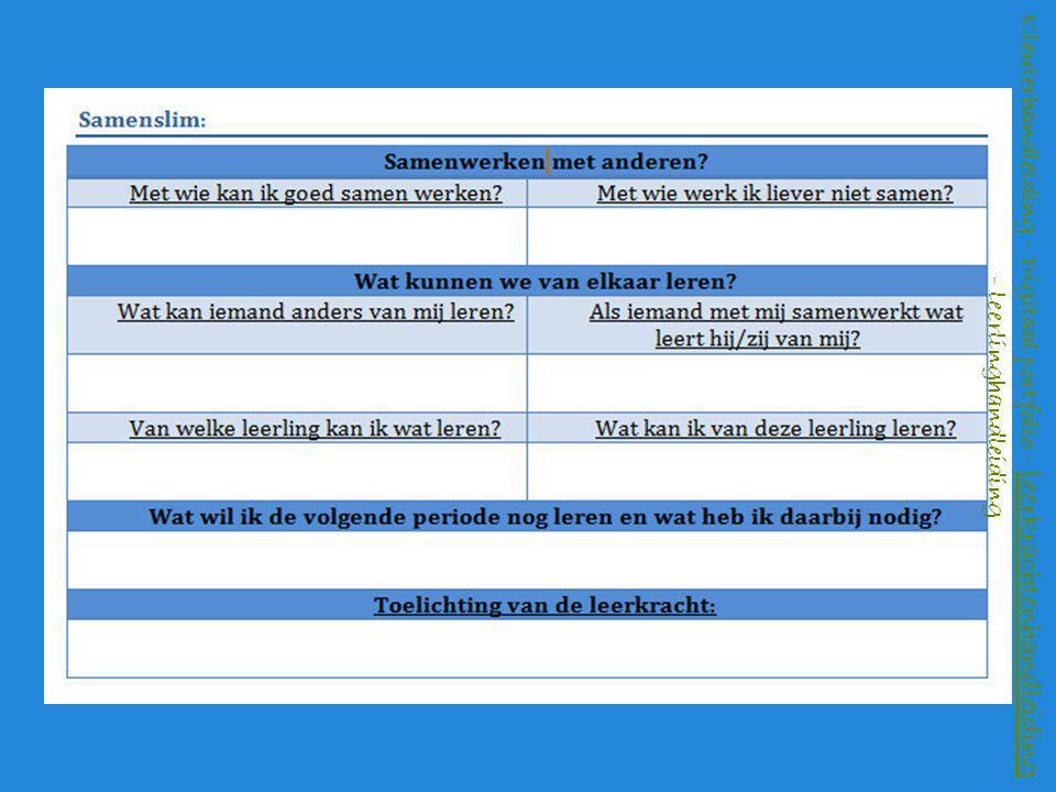 Kleuterhandleiding – Digitaal portfolio – leerkrachtenhandleiding - leerlinghandleiding