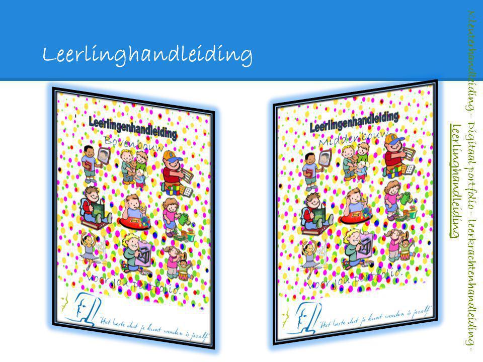Leerlinghandleiding Kleuterhandleiding – Digitaal portfolio – leerkrachtenhandleiding - leerlinghandleiding.
