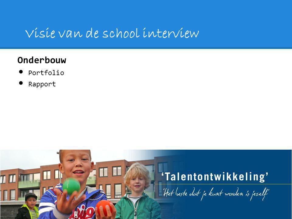 Visie van de school interview