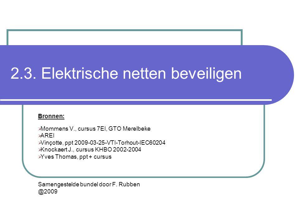 2.3. Elektrische netten beveiligen