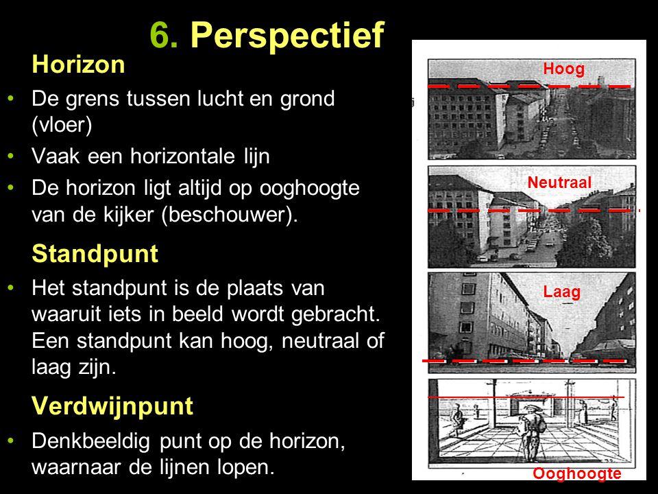 6. Perspectief Horizon Standpunt Verdwijnpunt