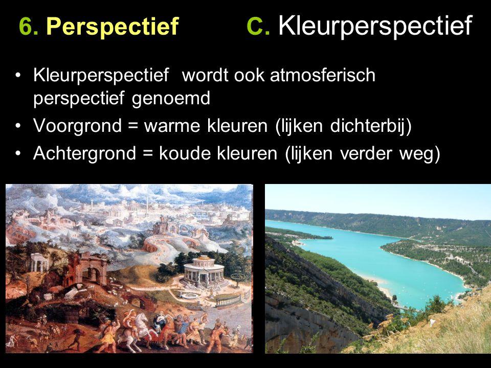 6. Perspectief C. Kleurperspectief