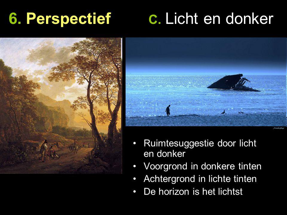 6. Perspectief C. Licht en donker