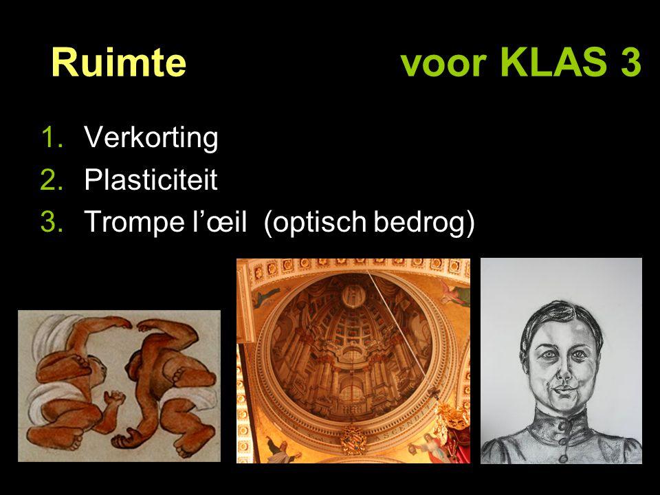 Ruimte voor KLAS 3 Verkorting Plasticiteit
