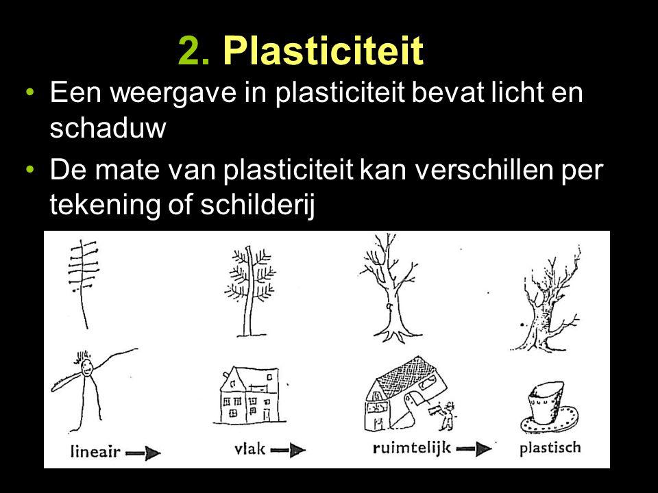 2. Plasticiteit Een weergave in plasticiteit bevat licht en schaduw