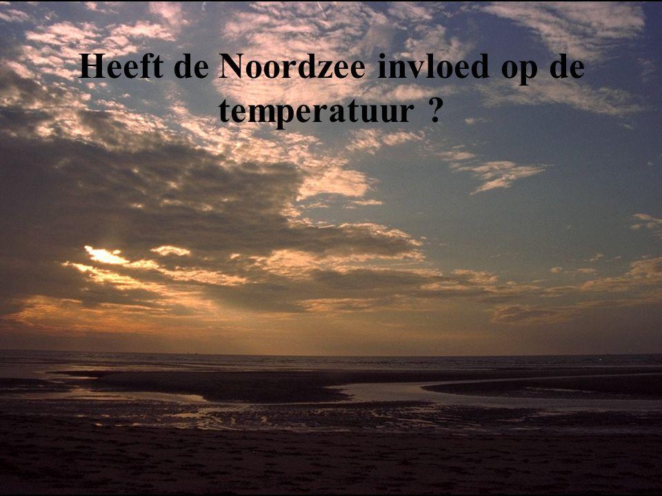 Heeft de Noordzee invloed op de temperatuur