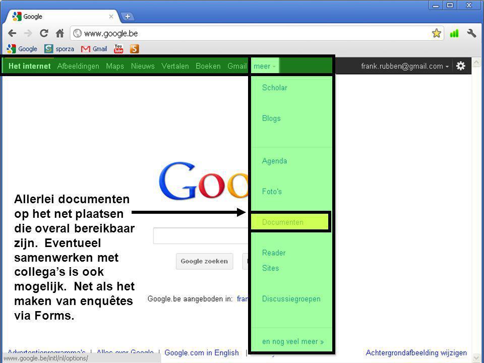 Allerlei documenten op het net plaatsen die overal bereikbaar zijn